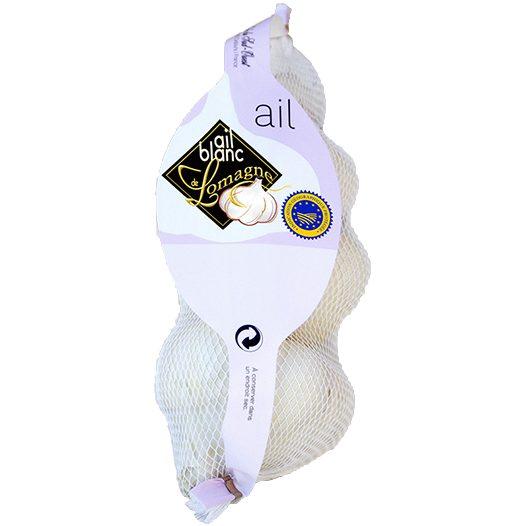 ail blanc de Lomagne IGP - Les aulx du sud-ouest Filet 3 têtes gros calibre sur originel produits-origine.com