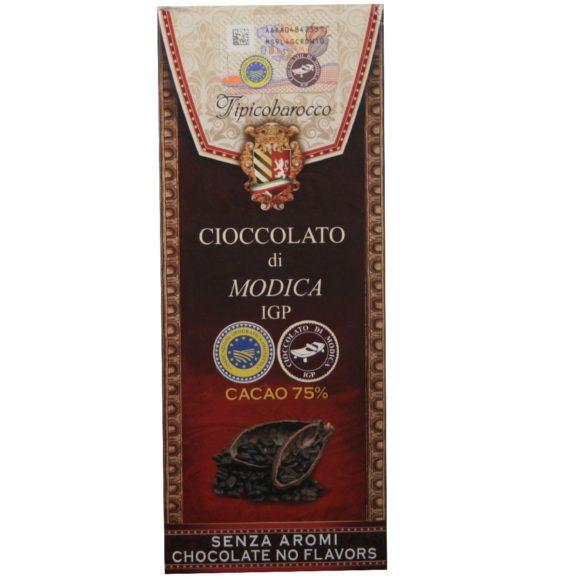 Chocolat de Modica IGP 75% de cacao, chocolat sicilien non conché