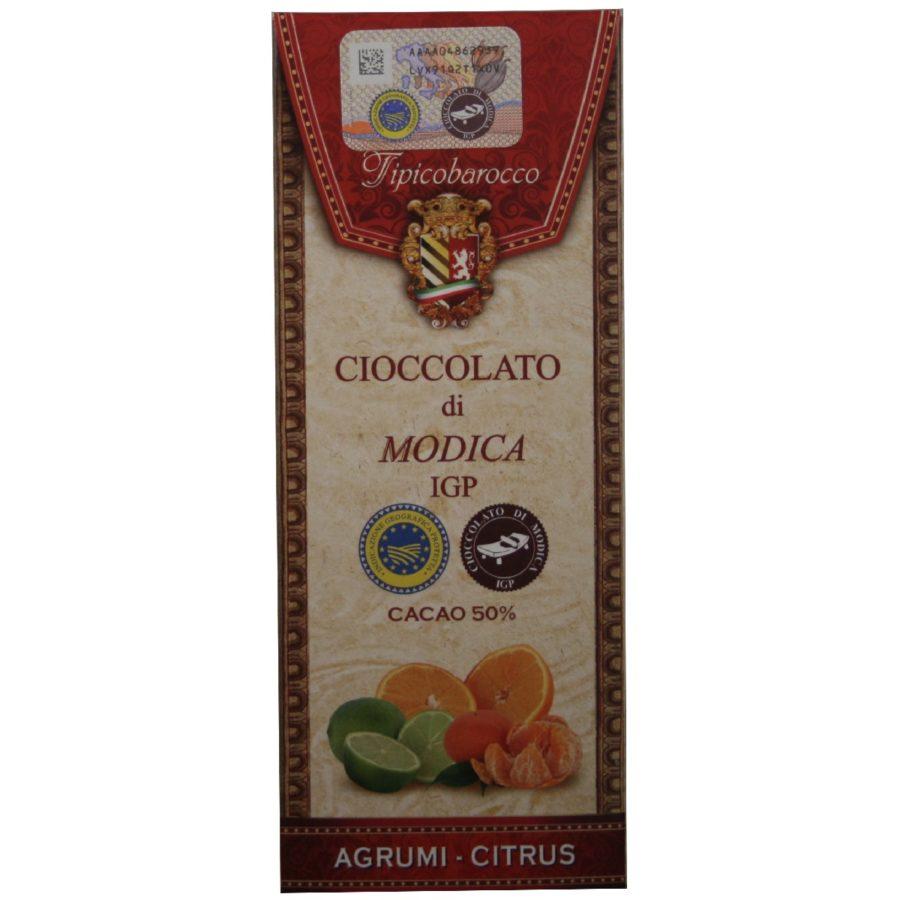 Chocolat de Modica IGP aux agrumes de Sicile - Tipico Barocco