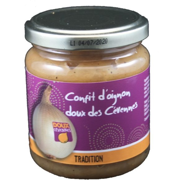Confit d'oignon doux des Cévennes 75% d'oignon doux des Cévennes AOP