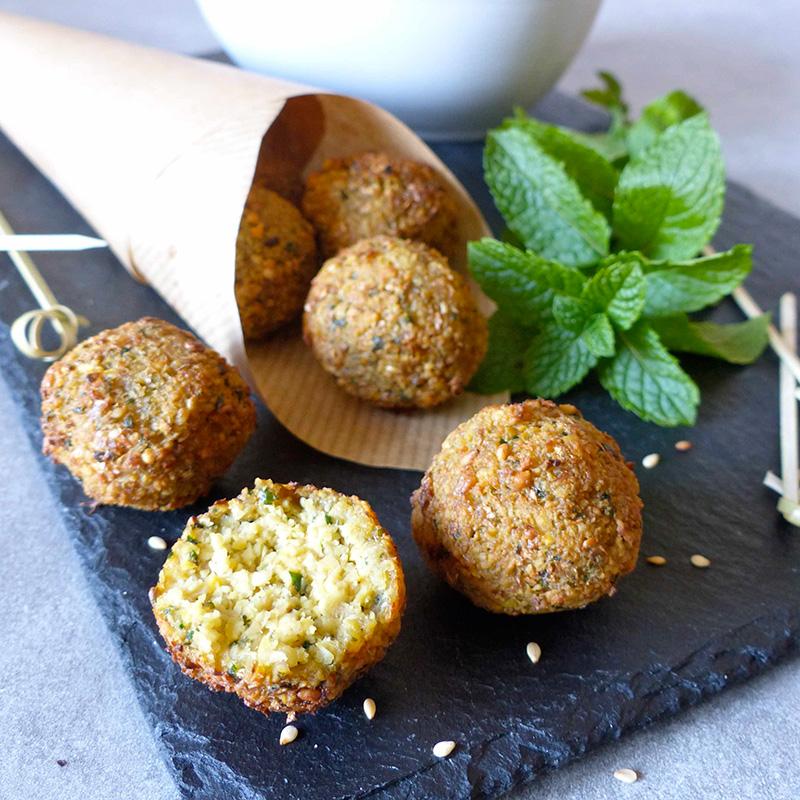 Falafels à la menthe sauce concombre - aux pois chiches Bio origine France - grain de vitalité