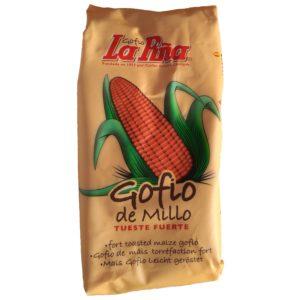 Gofio Canario IGP Gofio des Canaries : Gofio de maïs à torréfaction forte La Pina