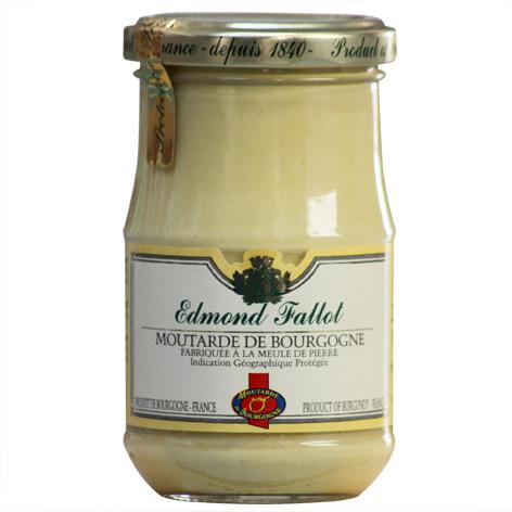 moutarde de Bourgogne IGP au vin blanc de Bourgogne AOCEdmond Fallot, bocal de verre 210 grammes