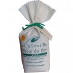 Lentille verte du Puy AOP direct producteur GAEC Avon sac en tissu