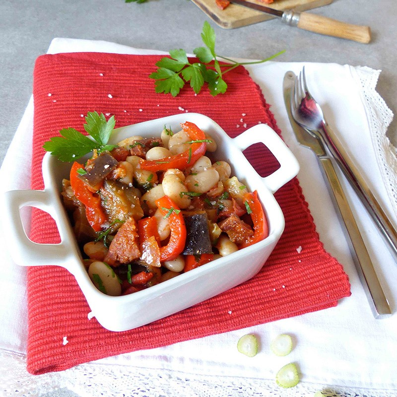 Mogette de Vendée IGP au chorizo et légumes du soleil - rectte grain de vitalité