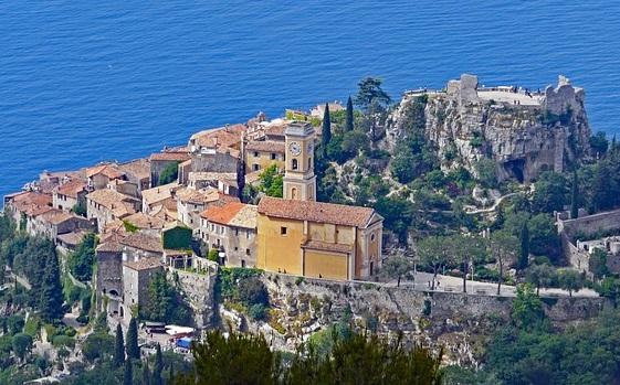Vilage perché Eze, Arrière-pays niçois, Côte d'Azur