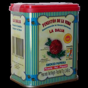 Paprika piquant AOP Pimentón de la Vera Boite métallique sérigraphiée / pouvoir colorant exceptionnel, bien supérieur à ceux des autres piments séchés.