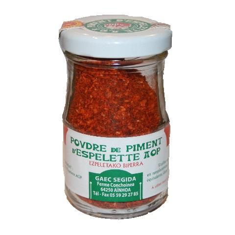 poudre de piment d'Espelette AOP GAEC SEGIDA à Aïnhoa