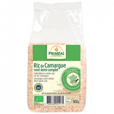 Riz rond semi-complet Bio de Camargue Priméal sachet transparent 500g