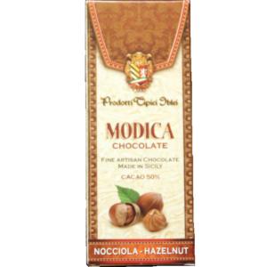 Chocolat de Modica IGP aux noisettes, produit de SIcile