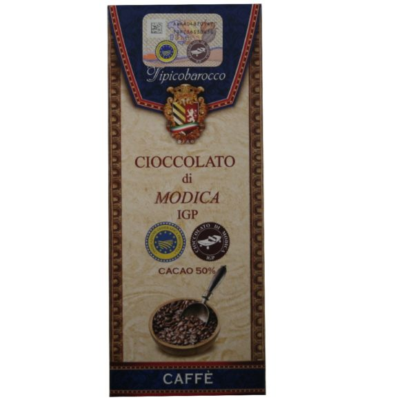 ioccolato di Modica IGP au Café Tipico Barocco, produit artisanal de Sicile