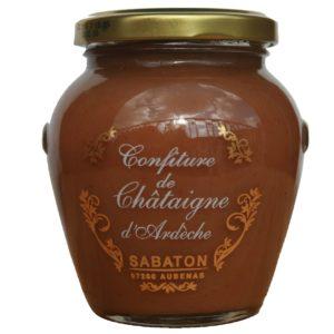 confiture de châtaigne d'Ardèche AOP Sabaton, fabriqué à Aubenas, recette traditionnelle