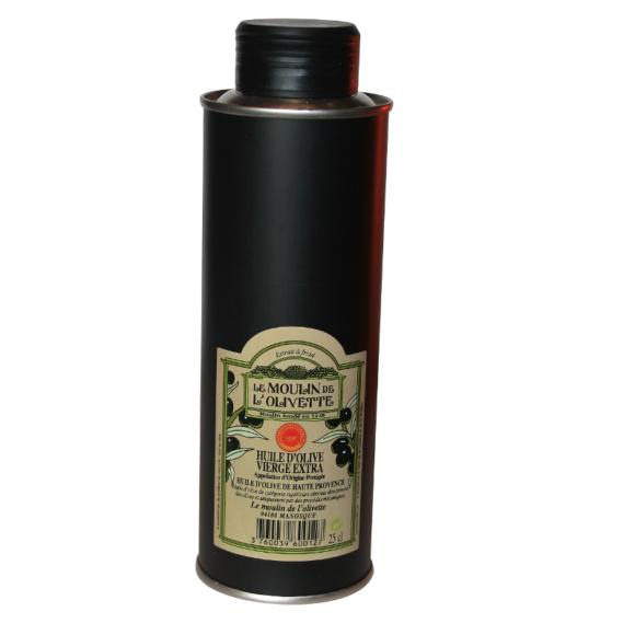 Huile d'olive de Haute-Provence AOP Moulin de l'olivette, coopérative de Manosque épicerie fine en ligne Originel les produits d'origine
