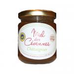 Miel de châtaignier des Cévennes IGP Christian Martin apiculteur récoltant Saint-Etienne-Vallée-Française - pot en verre 259 g