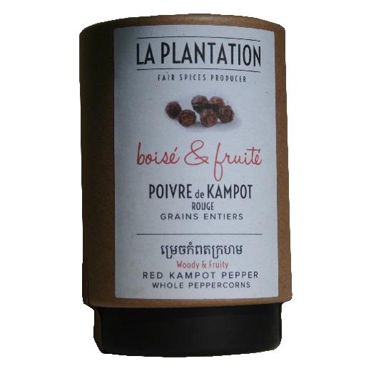 poivre rouge IGP Kampot La Plantation en tube carton 50 g
