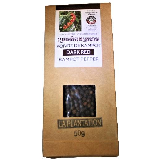 Poivre de Kampot IGP Dark red / grains rouge foncé cueillis à pleine maturité