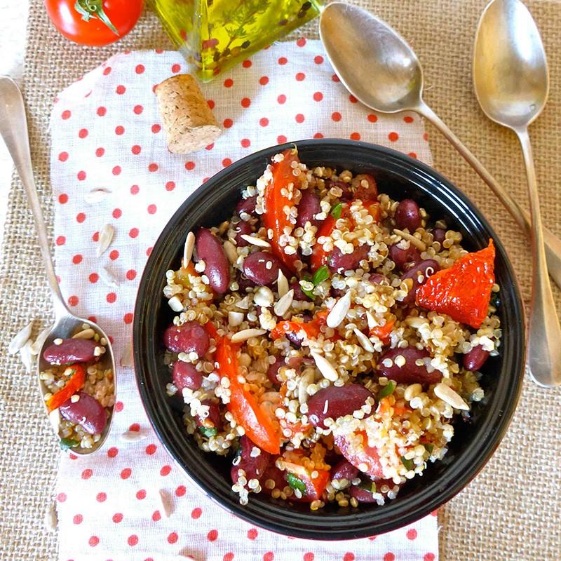 Salade américaine aux haricots rouges, quinoa bio, et graines de tournesol - grain de vitalité