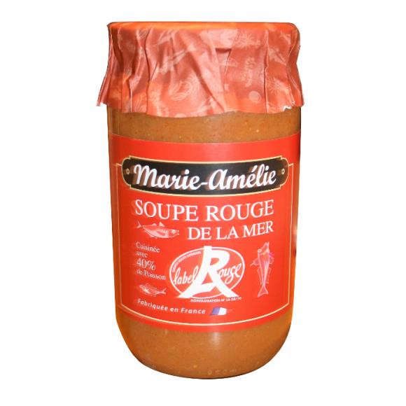 Bocal de Soupe rouge de la mer Label rouge Marie-Amélie huile d'olive extra, safran, poissons entiers